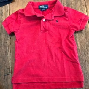 Red polo by Ralph Lauren